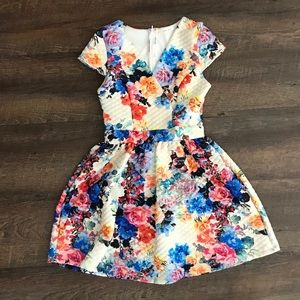 Floral Quilted dress